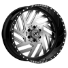 6 LUG XFX-304 GLOSS BLACK BRUSHED