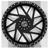6 LUG XFX-306 BLACK MILLED