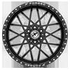 6 LUG XFX-307 BLACK MILLED