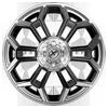 6 LUG XFX-308 GLOSS BLACK BRUSHED
