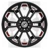 6 LUG XFX-308 BLACK RED MACHINED