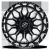 8 LUG XF-227 GLOSS BLACK MILLED