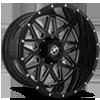 6 LUG XF-211 GLOSS BLACK MILLED