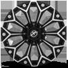 6 LUG XF-212 GLOSS BLACK MILLED