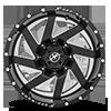 6 LUG XF-205 BLACK MILLED COMPLETE WINDOW - 20X10
