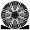 5 LUG AR708 RIBELLE MATTE BLACK MACHINED