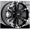 6 LUG 810 WIZARD FLAT BLACK W/ MACHINED LIP