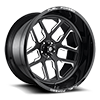 5 LUG FFC45 - 5 LUG | CONCAVE GLOSS BLACK & MILLED