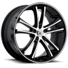 5 LUG ABL-01 PEGASI MACHINED FACE W/ BLACK LIP