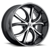 5 LUG ABL-08 ELEKTRA MACHINED FACE W/ BLACK LIP