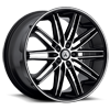 5 LUG ABL-10 POLLUX MACHINED FACE W/ BLACK LIP