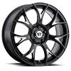 5 LUG MR126 GLOSS BLACK W/ MILLED ACCENTS