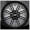 4 LUG M30 THROTTLE GLOSS BLACK MACHINED