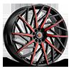 5 LUG R21 BLACK/RED