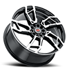 5 LUG R22 BLACK MACHINED