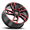 5 LUG R22 BLACK/RED