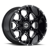 6 LUG SC-10 BLACK MILLED