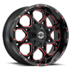 8 LUG SC-10 MILLED RED