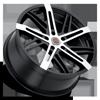 5 LUG R19 SATIN BLACK MACHINED