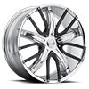 4 LUG V18 CHROME W/ BLACK INSERTS
