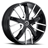 4 LUG V18 BLACK W/ CHROME INSERTS