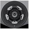 6 LUG AR23 SATIN BLACK W/ CLEAR COAT