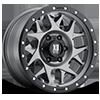 6 LUG XD127 BULLY MATTE GRAY W/ BLACK RING